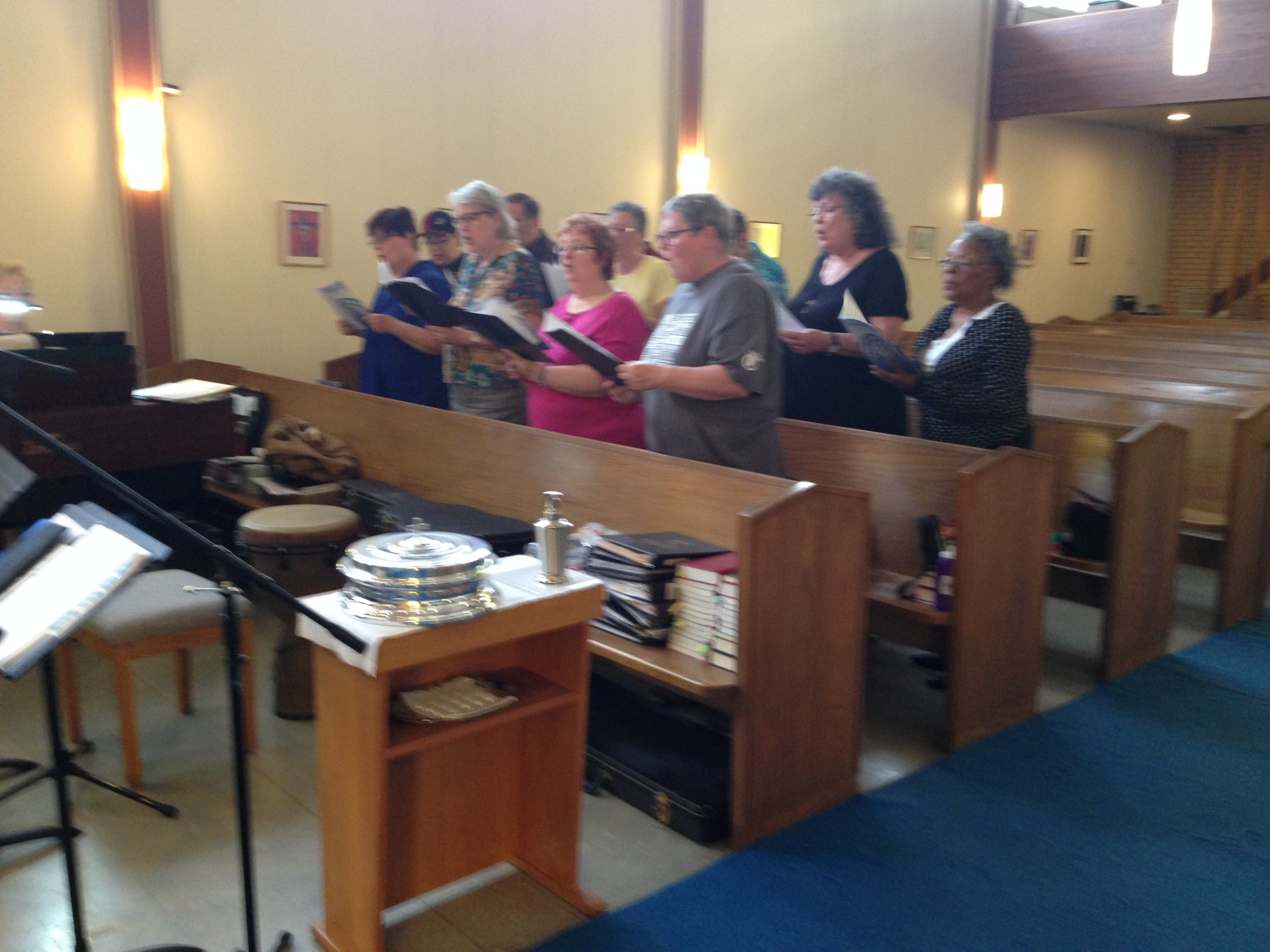 Choir practice for 60th Homecoming celebration