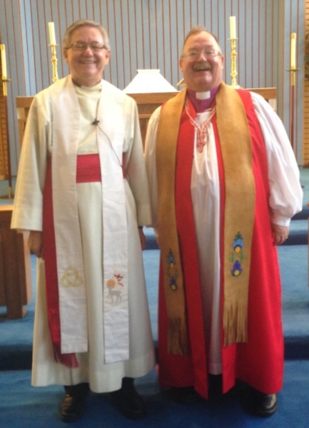 Bishop Larry Robertson, Diocese of the Yukon with Pastor Murray